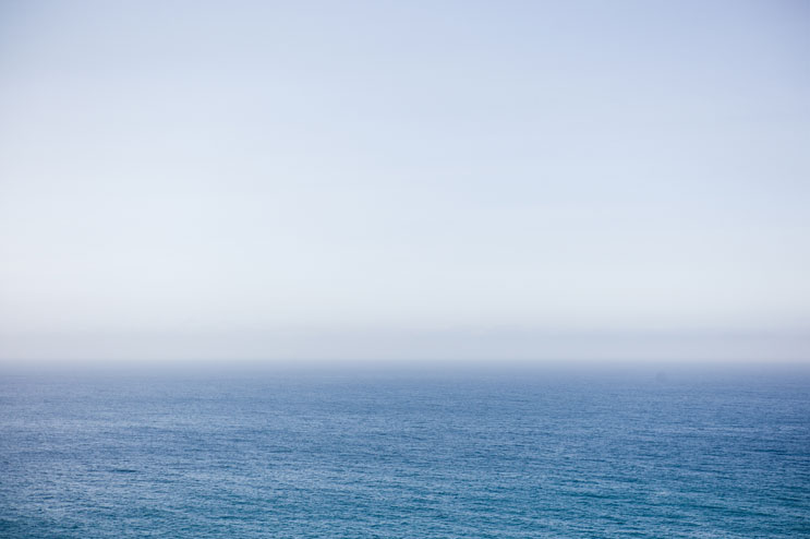 Sea and sky meet at the Pacific Coast of Big Sur, Calif., May 19, 2011.