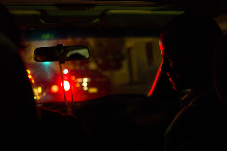 Robbie Sweeny, right, talks to John Bowman in the car while driving through San Francisco, Calif., Friday, May 20, 2011.