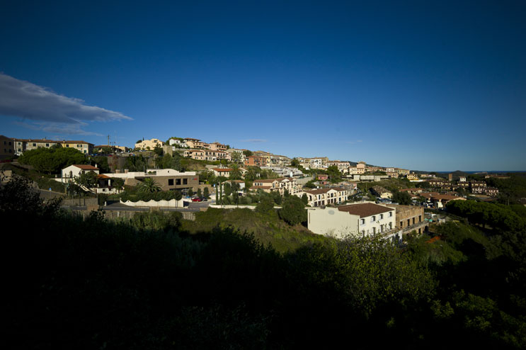 The early morning sun shines on the village of Capoliveri, Tuesday, October 2, 2011.