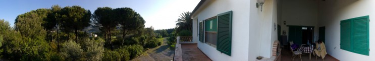View from the patio to Porto Azzurro; approximately 270 degrees. Monday, May 14, 2012.