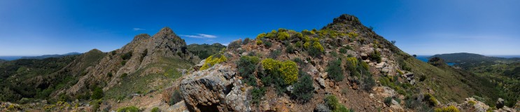 On the Percorso del Monserrato, Porto Azzurro; full 360 degrees. Wednesday, May 16, 2012.