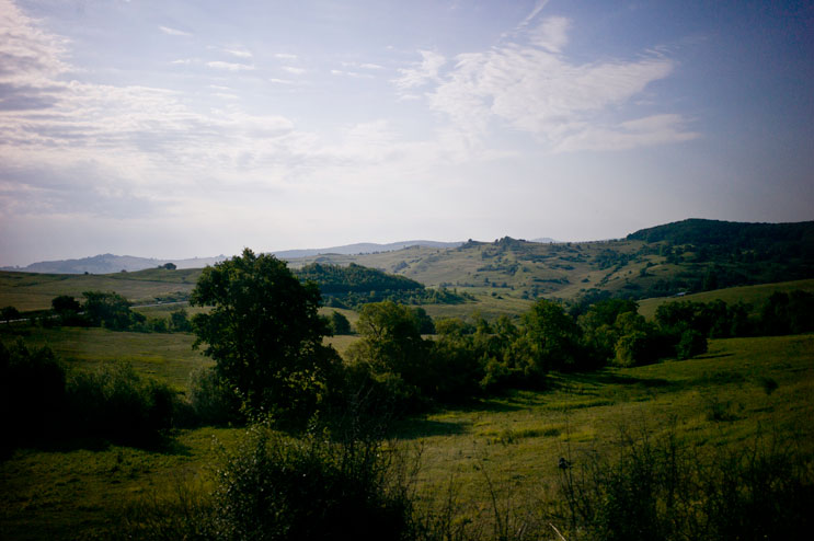 I really love the landscape in Transylvania. It reminds me of my home, only slighlty more hilly. Between Targu Mures and Sighisoara, Thursday, July 12, 2012.