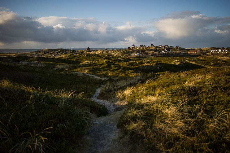 Hiking through the dunes on the Southern part of Sylt. Wednesday, December 4, 2013.