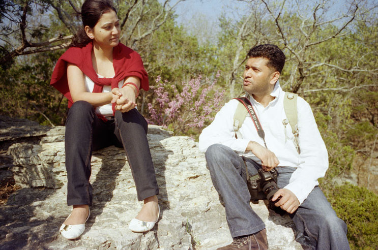 At Devil's Backbone with Bharat and Chaitali, Saturday, April 10, 2010.