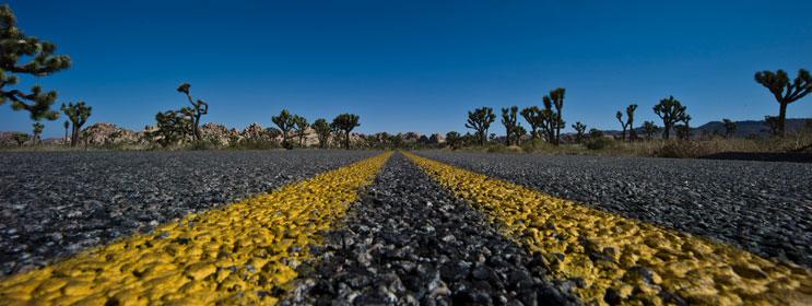 National Park Boulevard in Joshua Tree National Park, Calif., May 7, 2011.
