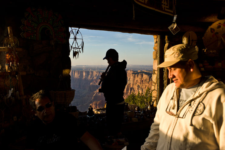 Visitors browse through the gift shop in the Desert View Watchtower at Grand Canyon National Park, Arizona, Thursday, June 2, 2011.