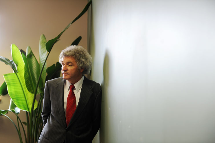 St. Anthony Hospital Interim CEO Dr. Ray Mencini stands in his empty office in Lakewood, Monday, June 13, 2011. St. Anthony is moving to a new campus and puts its existing campus up for sale.