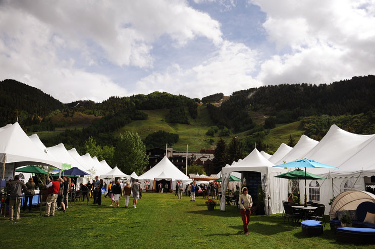 Surrounded by the mountains, the Food and Wine Classic takes place in downtown Aspen Friday, June 17, 2011.