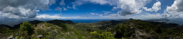 On Monte Strega, Rio nell'Elba; full 360 degrees. Monday, May 21, 2012.
