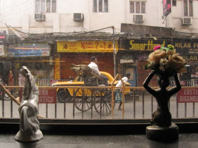 View from our favourite restaurant. Kolkata, India. 7th of March 2006